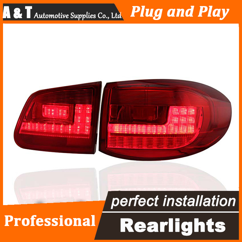 Car Styling LED Tail Lamp for VW Tiguan LED Taillights 2009-2012 Rear Light DRL+Turn Signal+Brake+Reverse auto Accessories car styling led tail lamp for suzuki swift taillights 2005 2014 swift rear light drl turn signal brake reverse auto accessories