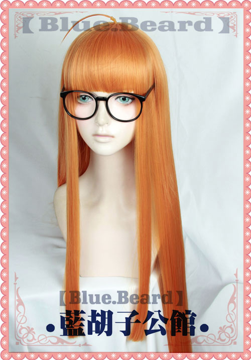 persona 5 Futaba Sakura Cosplay Wig only or Wig with no lens glasses Halloween Hair