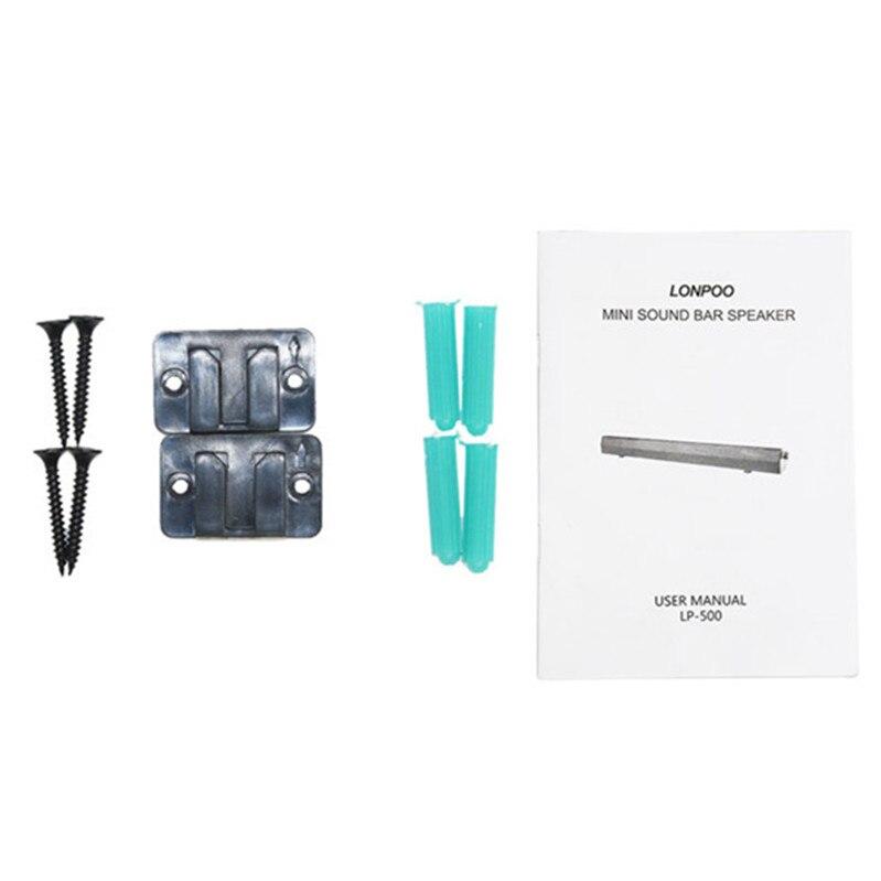 LONPOO Luidsprekers 10 W MP3 USB Luidspreker Hoofdtelefoon Soundbar - Draagbare audio en video - Foto 6