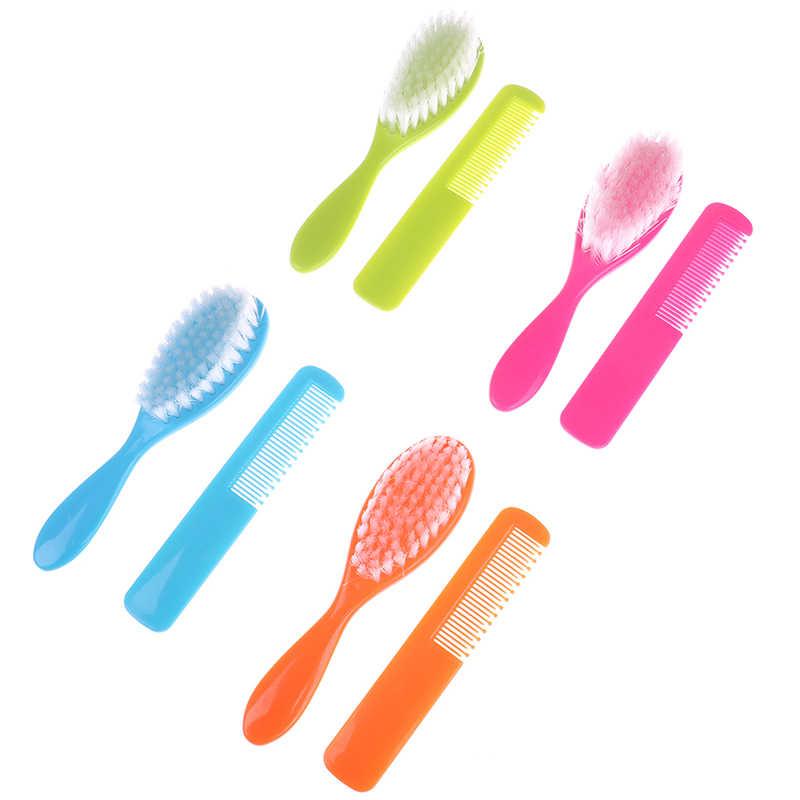 Nuevo 1 Juego de cepillos de pelo con forma de gota + conjuntos de masaje para el cabello profesional recién nacido/Infante/niño pequeño/ cuidado del cabello para bebé y Niña