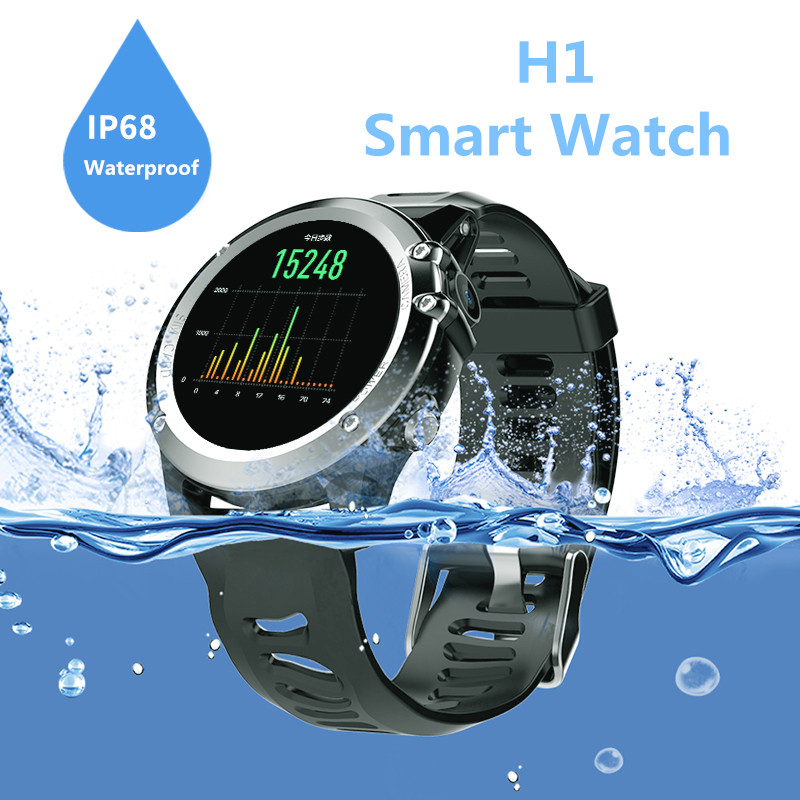 H1 IP68 Waterprrof Outdooors Step Smart Watch Heart Rate WIFI Bluetooth pedometer GPS Tracker Intelligent Watch Healthy Fitness no 1 d5 bluetooth smart watch phone android 4 4 smartwatch waterproof heart rate mtk6572 1 3 inch gps 4g 512m wristwatch for ios