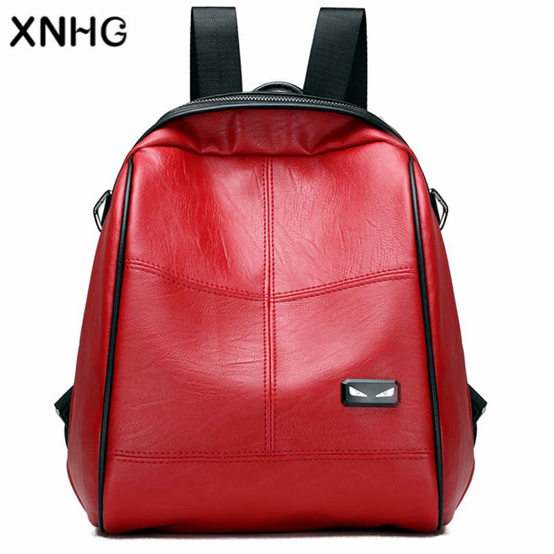 Korean Style Women Casual Patchwork School Backpacks For Teenage Girls Cute Leather Backpack Mochila Feminina Bag Pack Sac a Dos