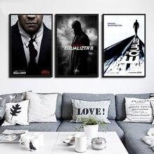 P385 эквалайзер серия фильмов популярная Denzel Washington художественная живопись Шелковый Холст плакат настенный домашний декор
