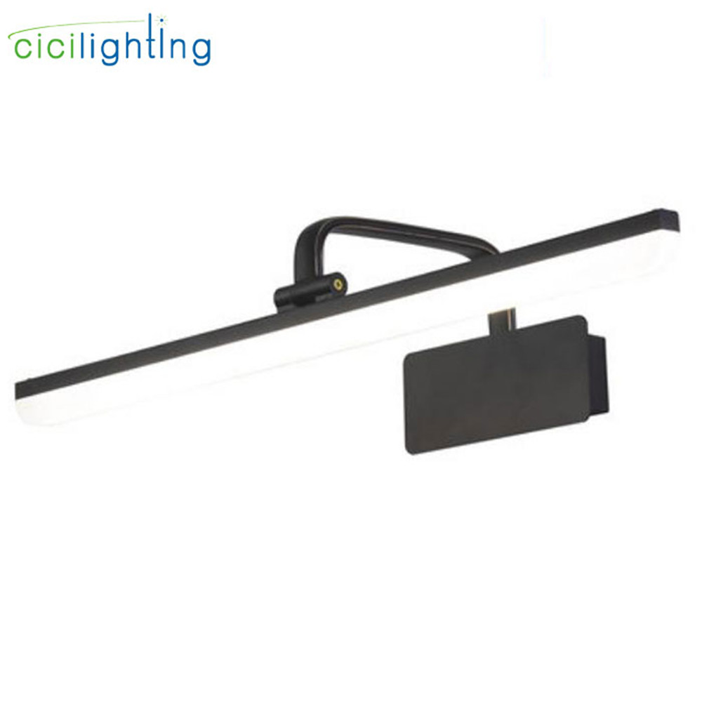 L43cm L57cm L71cm Nordic Europe black led vanity lamp cabinet light Metal bathroom Vanity mirror lamp Acrylic wall lighting
