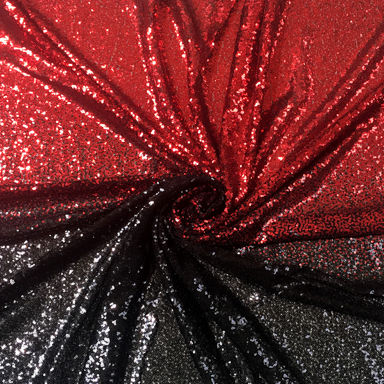 Image 5 - LASUI NEW 20 colors available 3MM encryption sequin gradient mesh lace fabric Evening dress show clothe Party dress fabric W0041Fabric   -