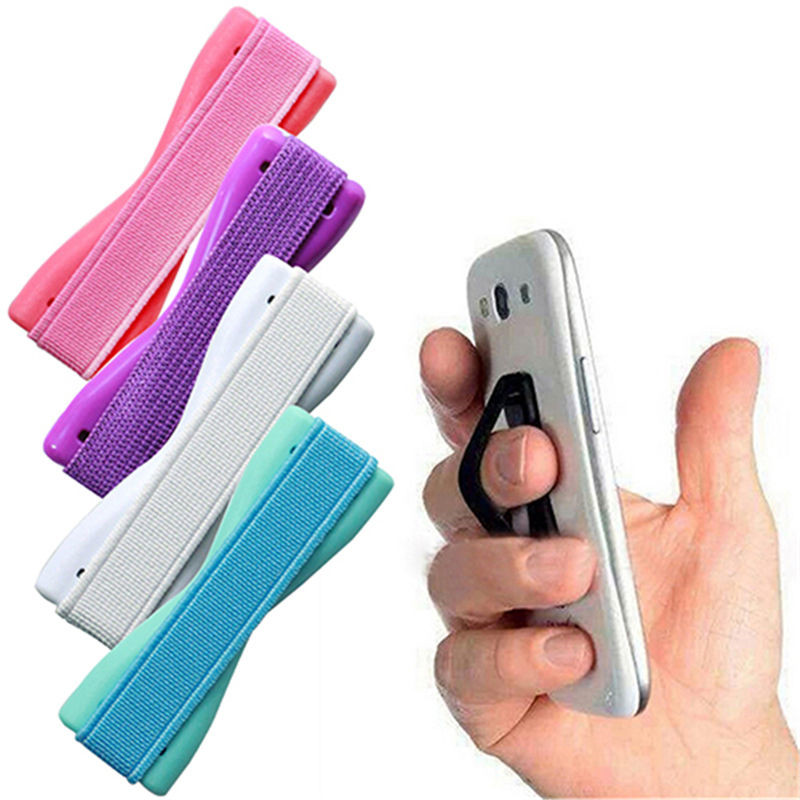 Finger Sling Grip Elastic Band Strap Universal Phone Holder Stand For Mobile Phones Tablets For IPhone X Samsung Huawei