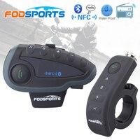 5 PCS Bluetooth Headset Walkie Talkie Helmet Headset FM NFC BT Interphone Motorcycle Accessories Stereo Headphone