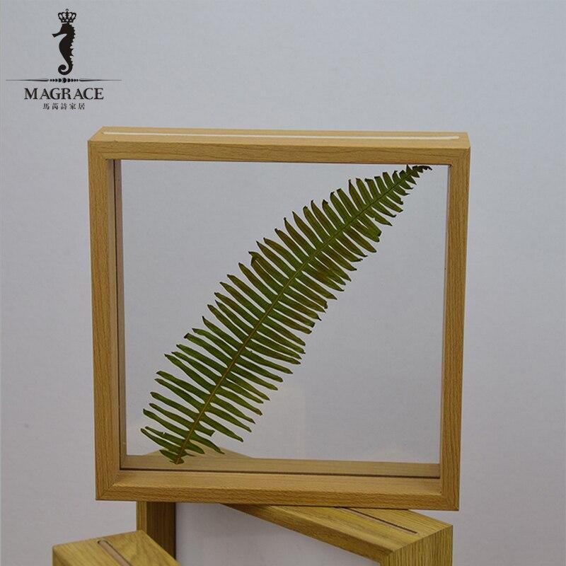 Madera rústica moderna cristal marcos de fotos Picture Frame ...