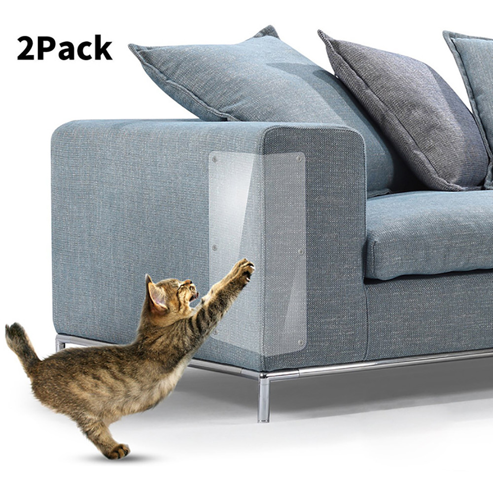 Home Scratchproof 2pcs Pet Cat Scratch Guard Mat Cat Scratching Post Furniture Sofa Protector For Home