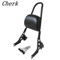 Motorcycle Black Luggage Rack Rear Passenger Backrest Sissy Bar Cushion Pad For Harley Sportster XL 883 1200 48 04 16 15