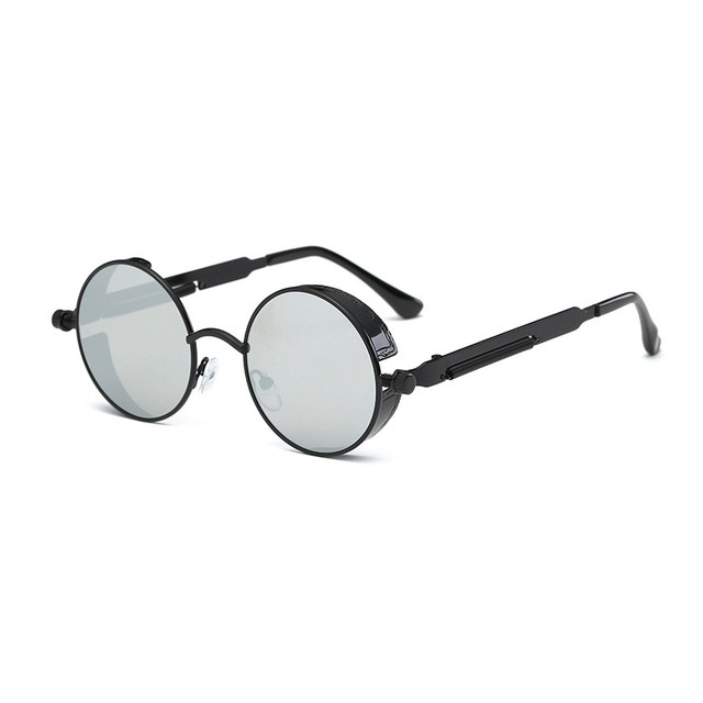 Baru musim semi kaki cermin logam kacamata bulat bingkai retro sunglasses  terang reflektif Eropa dan Amerika 0a1b01906d