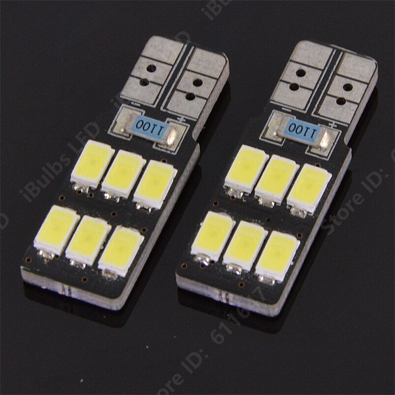 2PCS High Quality Canbus Error Free T10 W5W 6 LEDs 194 501 Auto 5630 SMD Car Interior lights Wedge Lamp No Electrode DC 12V cпрей clean