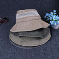 New plain bucket hats men reversible wear 100% cotton sunTravel mountaineering cap comfortable fisherman hat wholesales