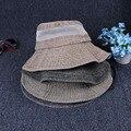 Nova plain balde chapéus homens sunTravel cap montanhismo desgaste reversível 100% algodão confortável chapéu de pescador atacado