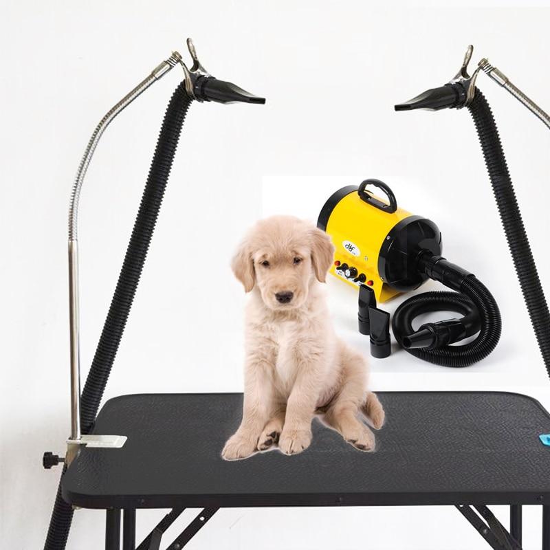 Hundepflege Tisch Haustiere baden Beauty Haartrockner Montagehalterung Clip, 360 Grad Metallschlauch, Edelstahlbügel