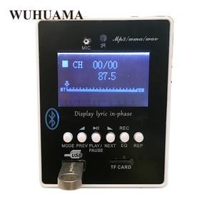Image 3 - DIY Reproductor MP3 Player TF Card USB Decoder Module DC 12V WAV Lossless Decodering Board Bluetooth Blue LED FM Radio Car KIT