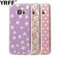 Crystal Glitter Powder Shining Candy Cover For samsung galaxy s7 edge Case Love Heart Star Phone Cases For samsung galaxy s7