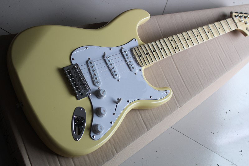 factory custom New maple TOP F -Semi Hollow Orange custom Stratocaster Electric Guitar with P90 pickup Free Shipping 914 brand new semi hollow body jazz electric guitar with double f hole p90 pickup and single cutway
