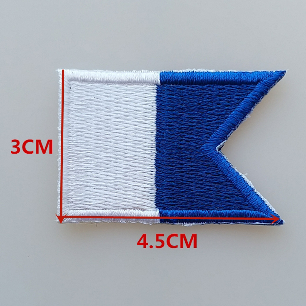 Diver Down Flag / Alpha Flag Patch Patches Backpack Vest Bag Badge Replacement Scuba Diving Dive Iron-on Embroidered Accessories