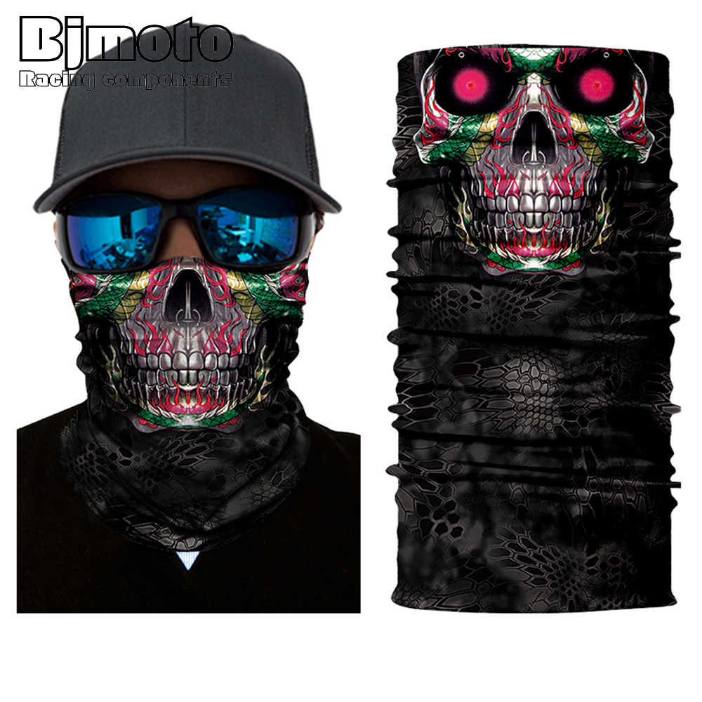 BJMOTO ثلاثية الأبعاد الأسد باندانا في الهواء الطلق بالاكلافا دراجة نارية قناع الوجه الرقبة Headbands السائق ماجيك الحجاب أنبوب الرقبة والأوشحة 40% off