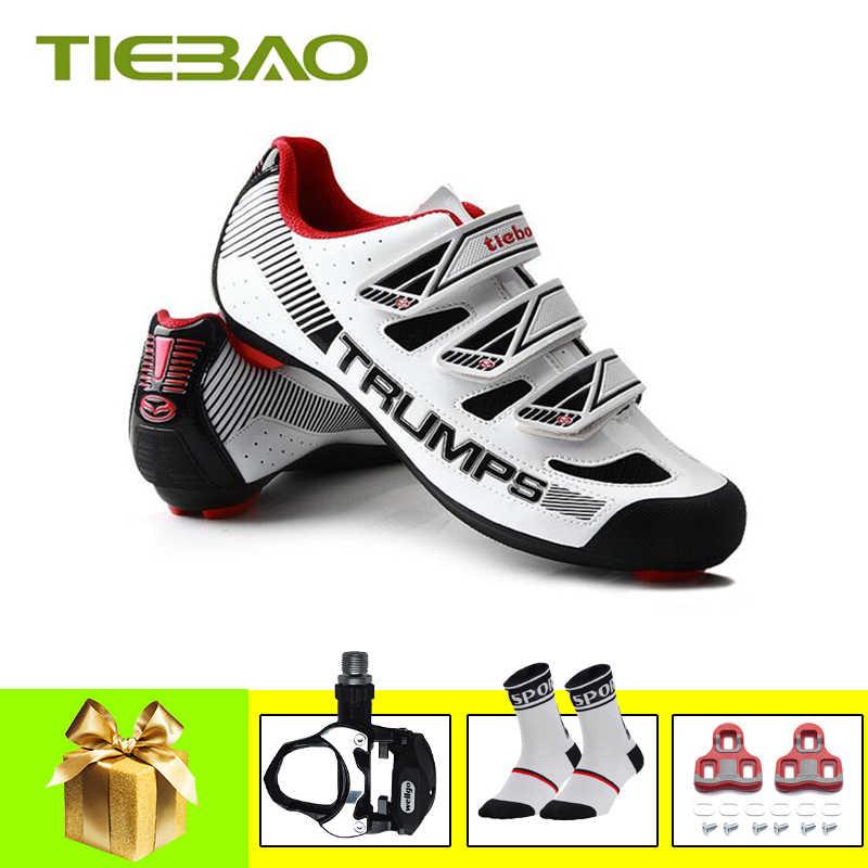 Buty Tiebao pro jazda na rowerze buty sapatilha ciclismo SPD-SL samoblokujące oddychające superstar na świeżym powietrzu trampki sportowe buty rowerowe