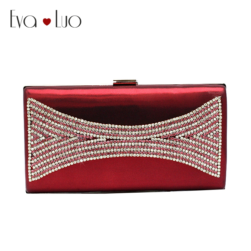 Us 45 0 A026 Dhl Fast Shipping Crystal Wine Red Evening Bags Clutch Bag Women Clutches Lady Wedding Handbags Purse Shoulder In Top Handle