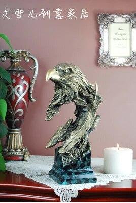 Eagles ornaments imitation animal sculptures carved wooden eagle first vintage crafts