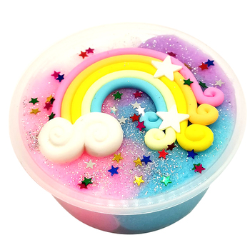 2018 Rainbow Snow Mud Multicolor Rainbow Mud Creative DIY Non-Toxic Decoration Brushed Rainbow Mud Vent Toys Drop Shipping button