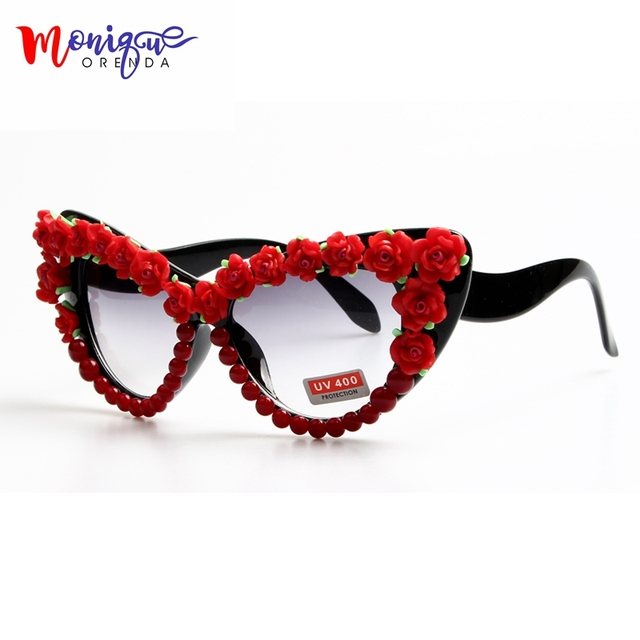 2017 Óculos De Sol Barrocos Mulheres Moda Rose Flor Retro Dos Óculos De Sol  Do Olho 10da8f7214