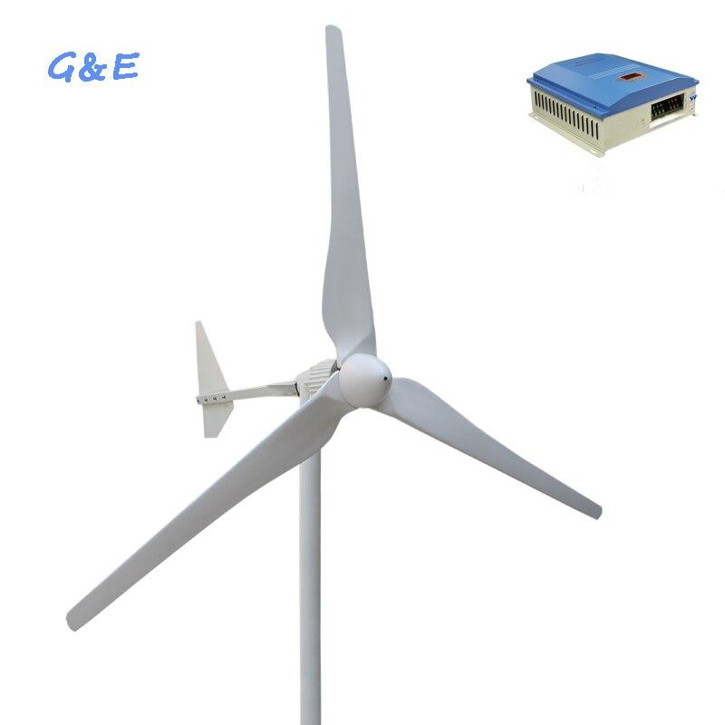 Turbiny wiatrowej 2000w 48v 96v wiatrak zasilający 2kw generator wiatrowy z wiatrem hybrydowy sterownik solarny