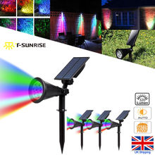 T-SUN 7 LED Outdoor Color Changing Landscape Lights Solar Security Light for Patio Yard Garden 4 PACK