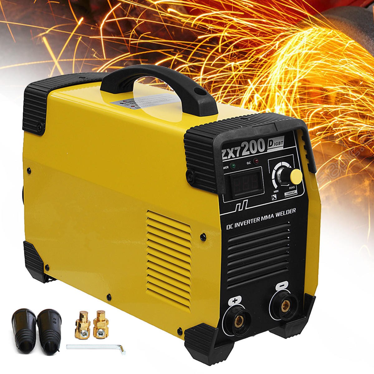New ZX7-200 220V Portable MMA IGBT Welding Machine DC Inverter 20-200A Mini Digital Air Cooling Electric Soldering Welding Tool цена