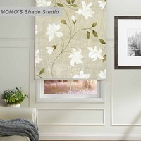 MOMO Blackout Painting Window Curtains Roller Shades Blinds Thermal Insulated Fabric Custom Size ,PRB set467