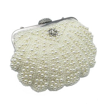 2018 Luxury Pearl Women Bag Fashion Two Sided Beaded Evening Bags For Female Elegant 3 Colors Bridal Wedding Party Bag Clutch Clutches