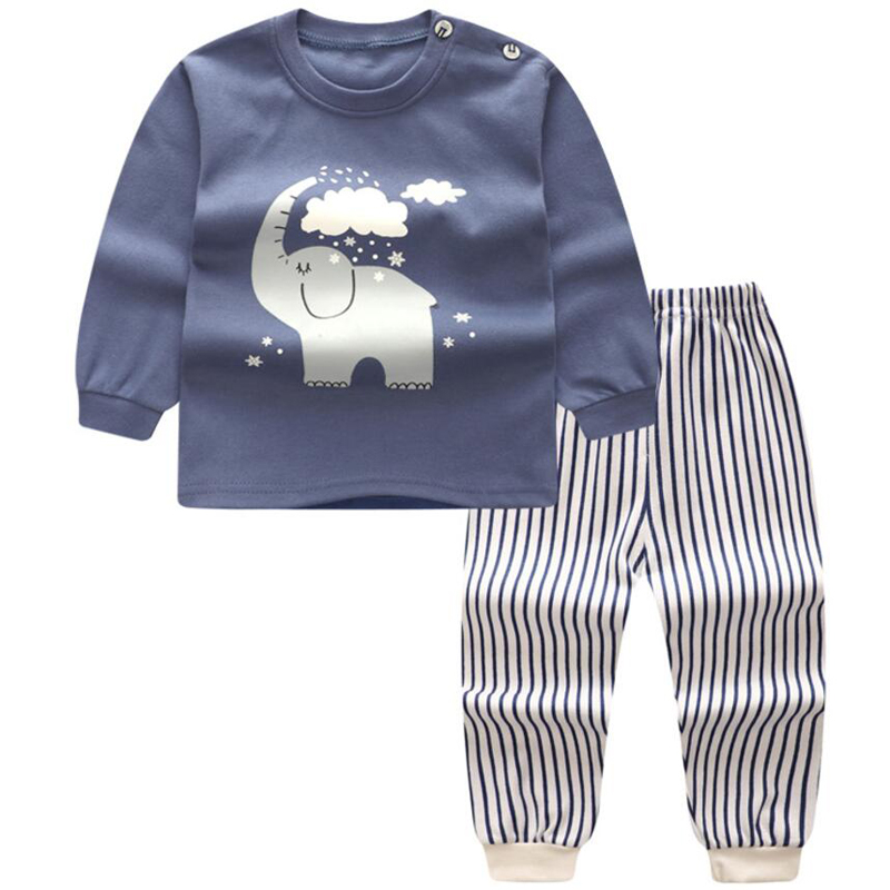 2PCS baby boys clothes Pajamas set newborn tops pants outfits set Toddler Boys Clothing for babies suits Cotton Pijama Boys Kids 2pcs children outfit clothes kids baby girl off shoulder cotton ruffled sleeve tops striped t shirt blue denim jeans sunsuit set