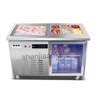 220 v 1400 w многофункциональный смарт морозильник жареные льда жареные йогурт машина коммерческих жареное мороженое roll машины интеллектуальн
