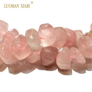 """Image 3 - High Quality 100% Natural Stone Beads Rose Pink Quartz Beads For Jewelry Making DIY Bracelet, Necklace Size 9 14 mm Strand 15"""""""