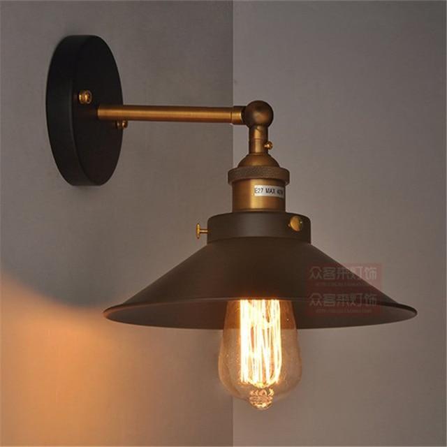 loft industrial iron cage. Creative Retro Loft Industrial Wind Vintage Wall Light Small Iron Cage Lamp E27 Bedside R