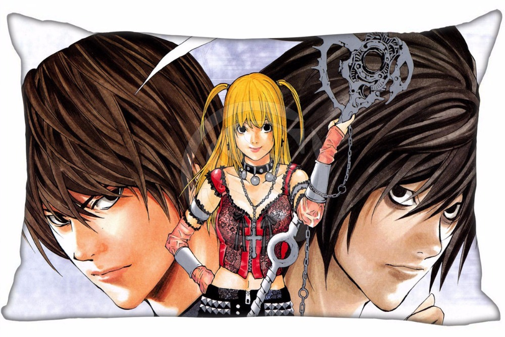Hot Sale Death Note Anime #6 Pillowcase Custom Zippered Rectangle Pillow Cover Cases Size 40x60cm (Two sides) WT#905&I8