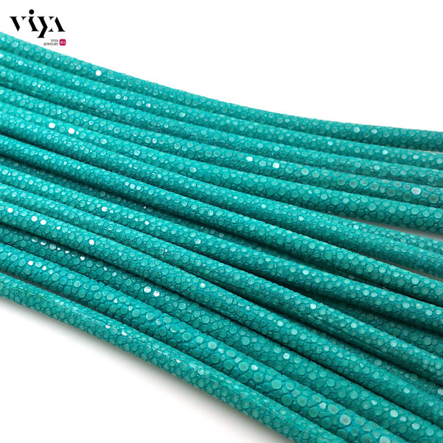 2016 new 4/5/6mm Real Turquoise Stingray Leather Cord Luxury Bracelet Leather Cord High Quality Stingray Leather Jewelry Rope