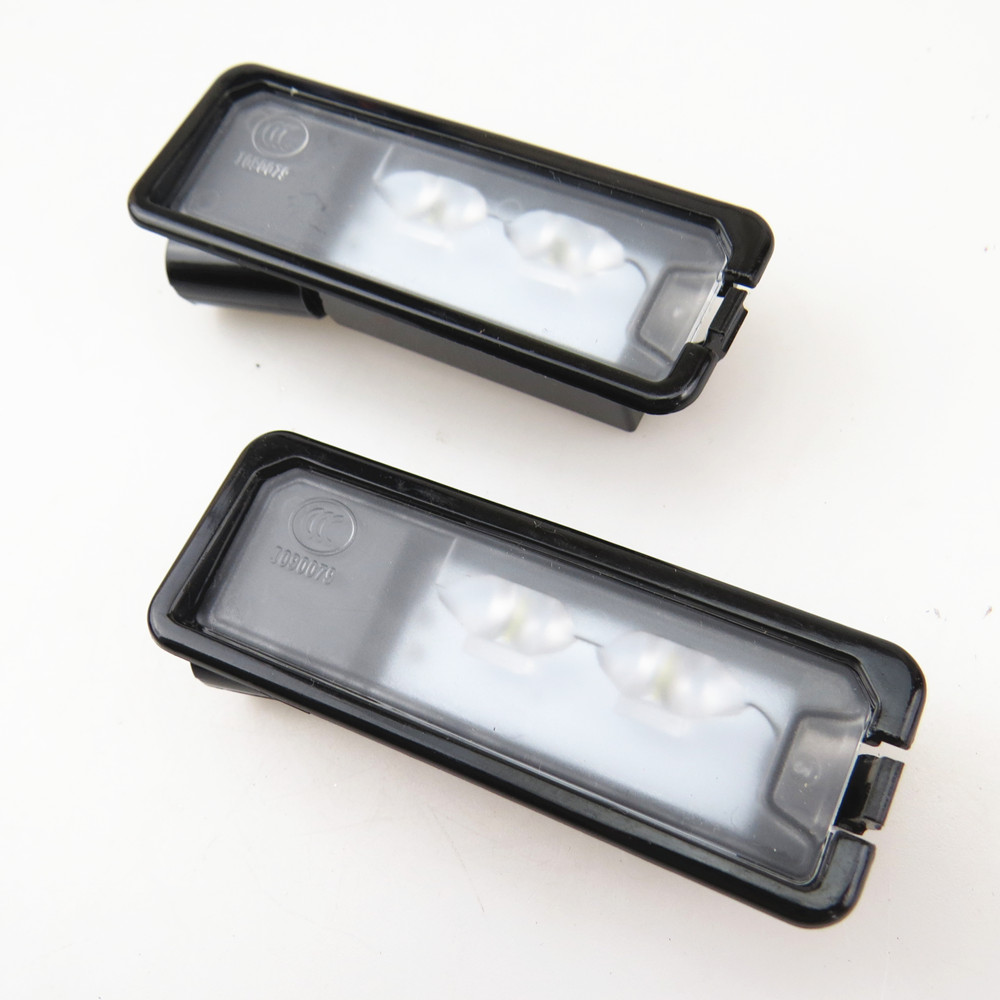ZUCZUG Qty 2 Car LED License Plate Light Lamp 12V For VW CC Eos Polo 6R Amarok Golf Cabrio MK7 Scirocco Passat 3C 35D 943 021 A for vw passat b7 cc golf mk7 license plate light with plug connector 35d 943 021 a