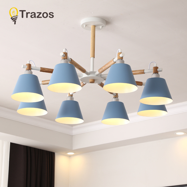 TRAZOS Nordic LED Wall Lamp For Bedroom Reading Wall Sconce Bedside Luminaira Modern Wooden E27 Wall Mounted Lighting Fixtures