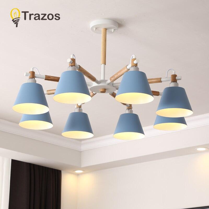 TRAZOS lampe nordique mur LED pour chambre lecture applique murale chevet Luminaira moderne en bois E27 luminaires muraux