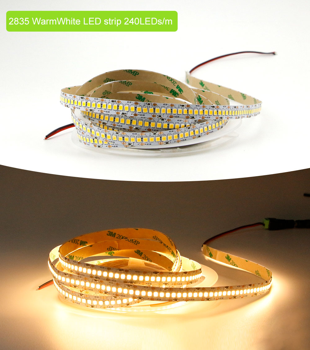 String Lights 240LEDs/m 2835 Led Strip 5M LED Non Waterproof RGB Indoor Light White Cold Warm Lighting