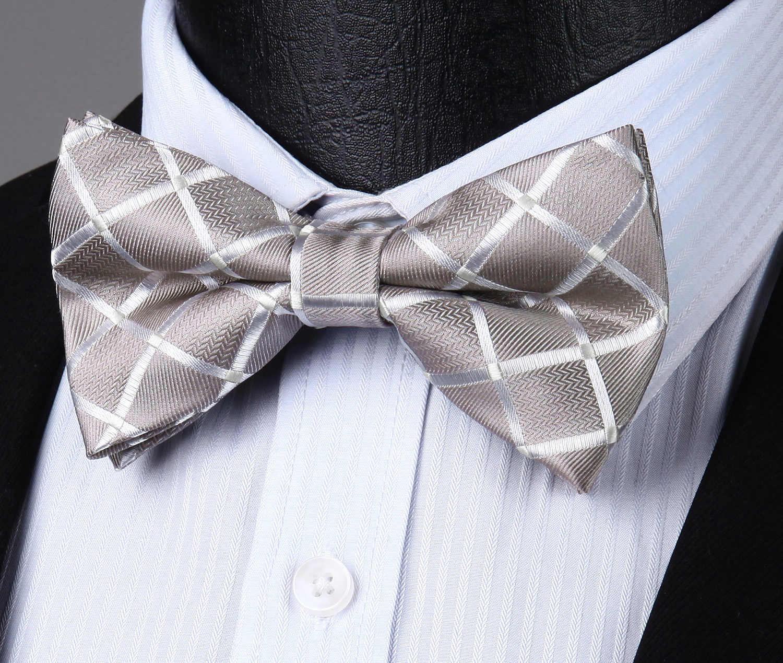 Kelebek Çizgili Polka Dot Onay Erkekler Ayarlanabilir Resmi Önceden Bağlı papyon Düğün Parti # BRC2