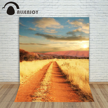 Allenjoy photographic background Meadow mountain road backdrops children boy studio digital 8×8