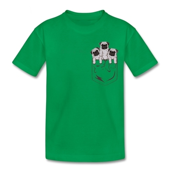Pocket Pug Girl T Shirt 100% Cotton Short Sleeve O Neck Teeshirt Guy Funny T-shirt For Boys Girls Pocket Pug