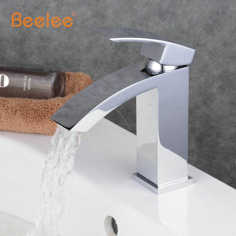 Beelee New arrival Bathroom Faucet ceramic Chrome Plated Brass Basin Sink Faucet Single Handle water mixer tap BL0531 beelee bl8121 cold hot water copper basin faucet for bathroom single handle sink wash basin tap water tap free shipping