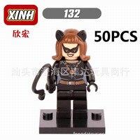 Lepin Pogo Wholesale 50PCS XH132 Batman The Avengers Marvel DC Super Heroes Building Blocks Bricks Toys