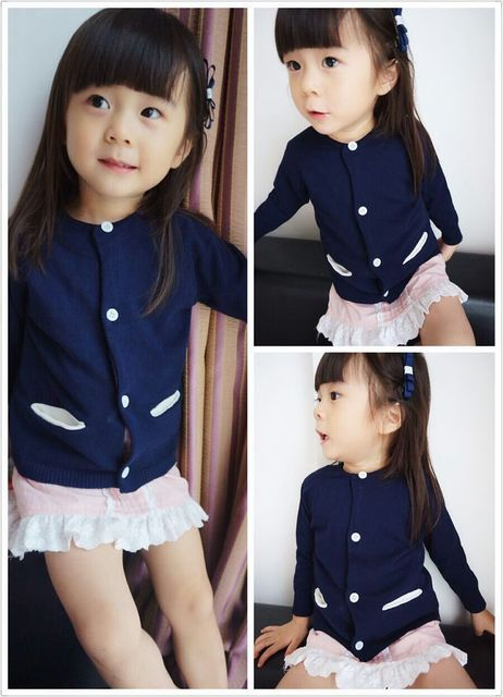 spring autunmn cardigan sweater coat knitwear family clothing girls boys mother pocket wear tops
